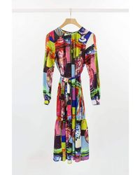 Weekend by Maxmara Weekend By Maxmara Cassino Pop Art Silk Midi Dress - Multicolour
