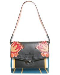 Paula Cademartori Women's Twifw17vtmxrc28 Black Leather Shoulder Bag