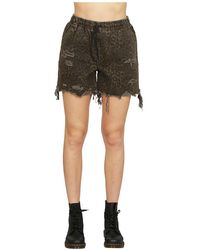 Alexander Wang - Shorts In Animal Print - Lyst