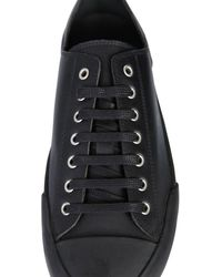 Jil Sander Leather Sneakers - Black
