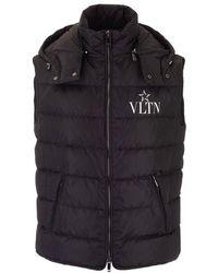 Valentino Men's Tv3cqa105w60ni Black Polyester Vest