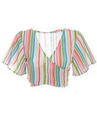 Mc2 Saint Barth Colour Cotton Top - Multicolour