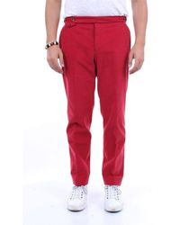 PT Torino Solid Color Cotton Pants - Red