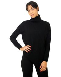 Alpha Studio Knit Turtleneck Black