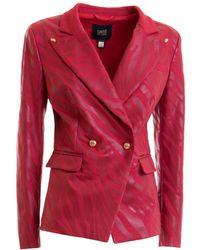 Class Roberto Cavalli Double Breast Jacket - Red