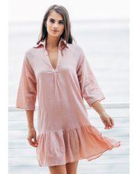 9seed Belize Ruffle Dress - Pink