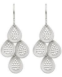Anna Beck Chandelier Earring Silver - Metallic