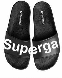 Superga Puw Sliders Black