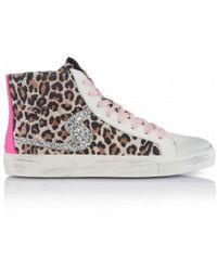 Shoe Biz Copenhagen Shoe Biz Jada Zip Leopard, Pink Trainers , Title:leopws - Multicolour