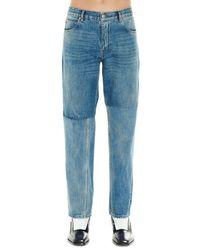 Martine Rose Cotton Jeans - Blue