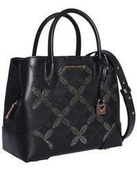 Michael Kors Mercer Gallery Bag In Leather - Black