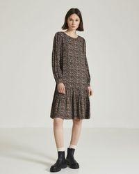 Yerse Micro Printed Dress - Multicolour