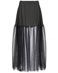 Pinko Women's Tulle Maxi Talbot Black Skirt