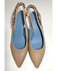 Kennel & Schmenger Selma Sling Back Kitten Heel Nude 91-46960-325 - Blue