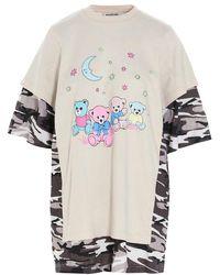 Balenciaga - Women's 641584tjvi19013 Multicolor Other Materials T-shirt - Lyst