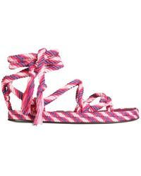 Isabel Marant - Women's Sd072721p045s40pk Pink Other Materials Sandals - Lyst