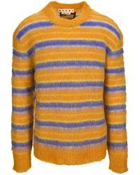 Marni Striped Crewneck Knit Sweater - Multicolor