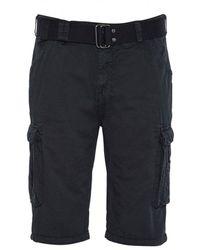 Schott Nyc Cargo Shorts - Tr Ranger 30 - Black