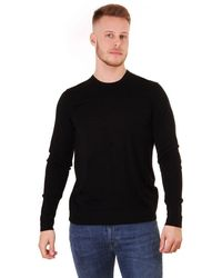 J.Lindeberg Newman Merino Wool Jumper - Black