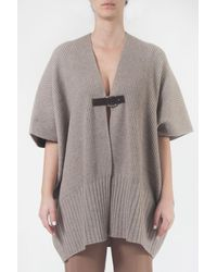 Tabaroni Cashmere Cape With Hook - Grey