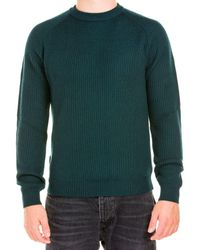 Woolrich Maglia 6558 Wokn0114mruf0561 Stand - Green