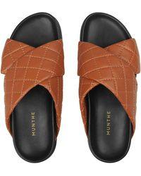 Munthe Tumeric Slippers - Brown