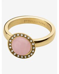 Dyrberg/Kern Valley Semi-precious Stone Diamante Ring Pink
