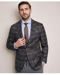Baldessarini Virgin Wool Check Rennon-1 Jacket - Grey