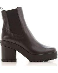 Hogan Women's Hxw5370bz7006lb999 Black Leather Ankle Boots