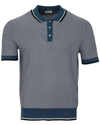 Z Zegna Silk & Cotton Polo (bluette)