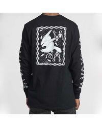 RVCA Jj Mix L S Tee Shirt Black