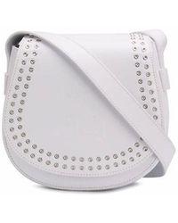 McQ Mcq By Alexander Mcqueen Women's 525117r7b229000 White Leather Shoulder Bag