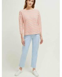 Great Plains - Monroe Stripe Top In Milk And Fiery Red - Lyst