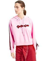 Sportmax Code Verusca Applique & Tie Sweatshirt - Pink
