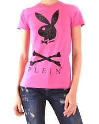 Philipp Plein Cotton T-shirt - Pink
