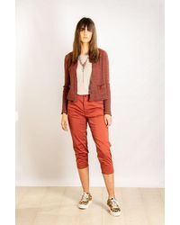 Transit Cropped Quirky Trousers - Orange