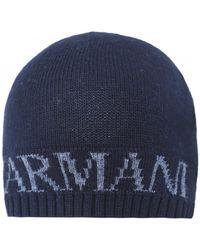 Armani Armani Wool Blend Hat & Scarf Gift Set - Blue