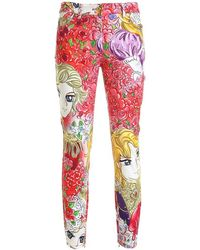 Moschino Marie Antoinette Jeans - Red