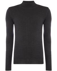 Remus Uomo Gray Turtle-neck Sweater