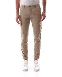 40weft Pantalone Cargo Realizzato In Cotone Con Trattamento Old, Vestibilità Slim - Brown