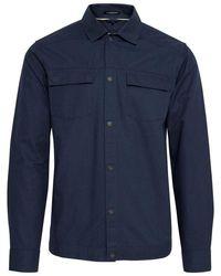 Blend Long Sleeve Dress S Pocket Shirt - Blue