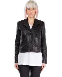 BLK DNM Leather Outerwear Jacket - Black