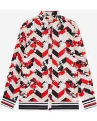 Maison Kitsuné Maison Kitsun㉠All-over Venice Classic Shirt - Multicolor - Red