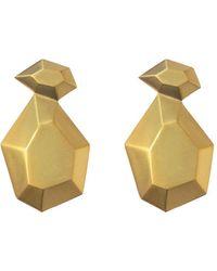 Natia X Lako Stone Earrings - Metallic