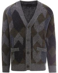 Roberto Collina Multicolour Wool Cardigan - Green