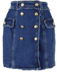 Liu Jo Fringed Mini Skirt - Blue