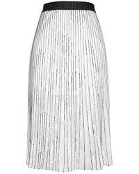 Guess Women's W1gd0ikalt011s088 White Other Materials Skirt