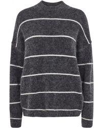 Second Female - Brook Striped Grey Knit - Lyst