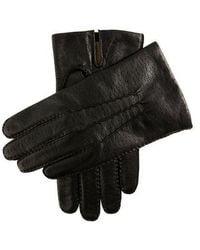 Dents Black Imitation Peccary Leather Gloves