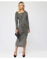 Vivienne Westwood Anglomania Long Sleeve Vian Dress - Blue